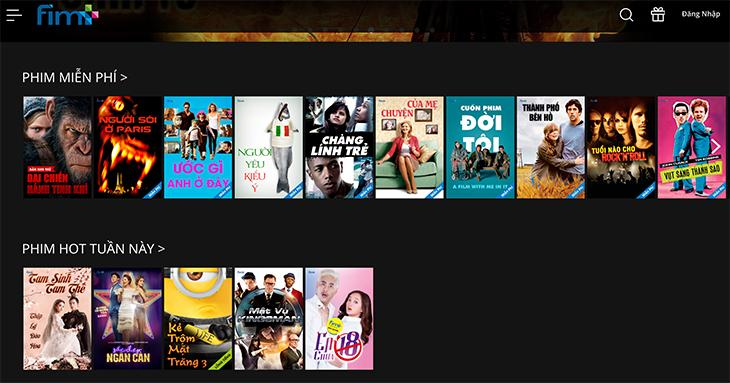 ứng dụng xem phim online trên tivi