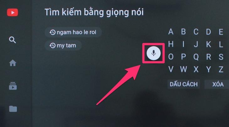 Tìm kiếm giọng nói trên tivi SamSung