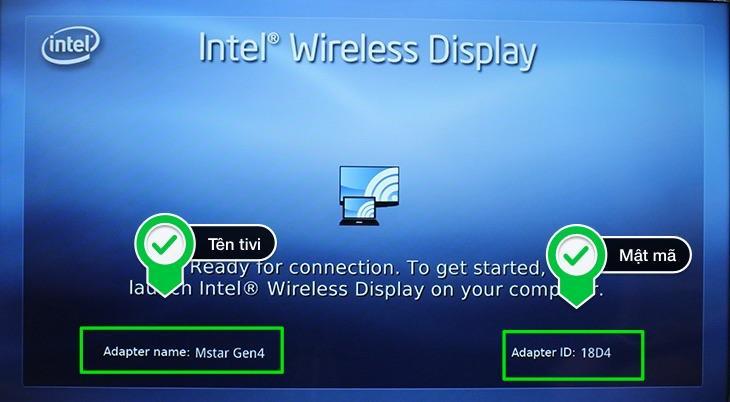 Chiếu màn hình laptop lên tivi bằng Wifi Display