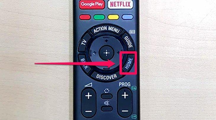 Nút Home hiển thị giao diện
