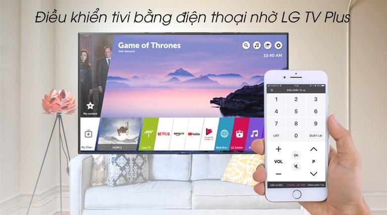 điều khiển tivi bằng điện thoại nhờ LG TV Plus