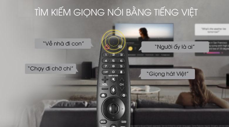 Tivi LG 50UM7600PTA tìm kiếm giọng nói bằng tiếng việt