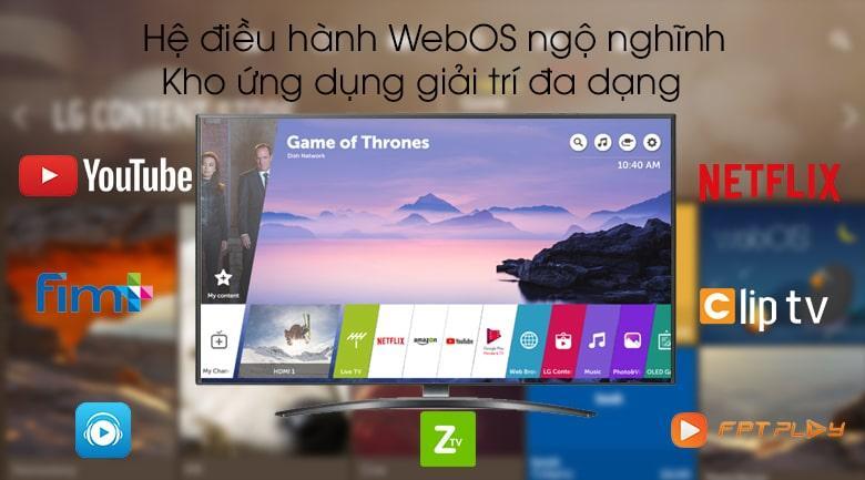 sử dụng hệ điều hành WebOS ngộ nghĩnh,kho ứng dụng phong phú