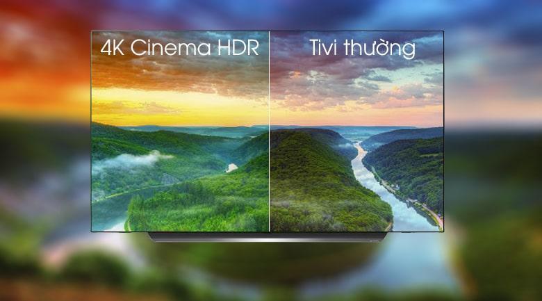 công nghệ 4K Cinema HDR trên Tivi OLED LG 55C9PTA