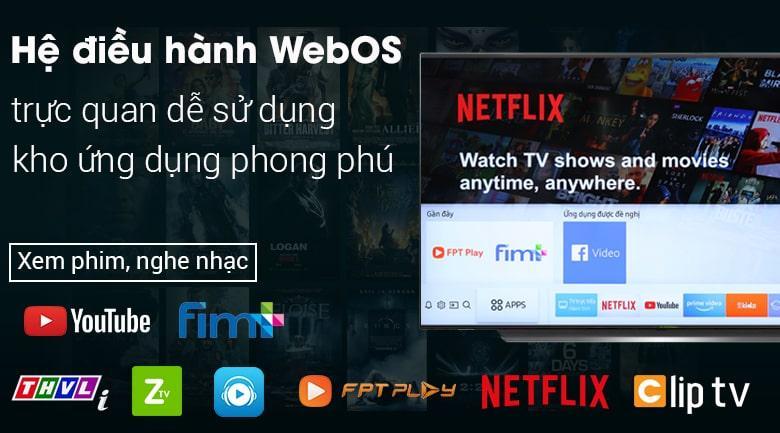 hệ điều hành WebOS trực quan dễ sử dụng kho ứng dụng phong phú