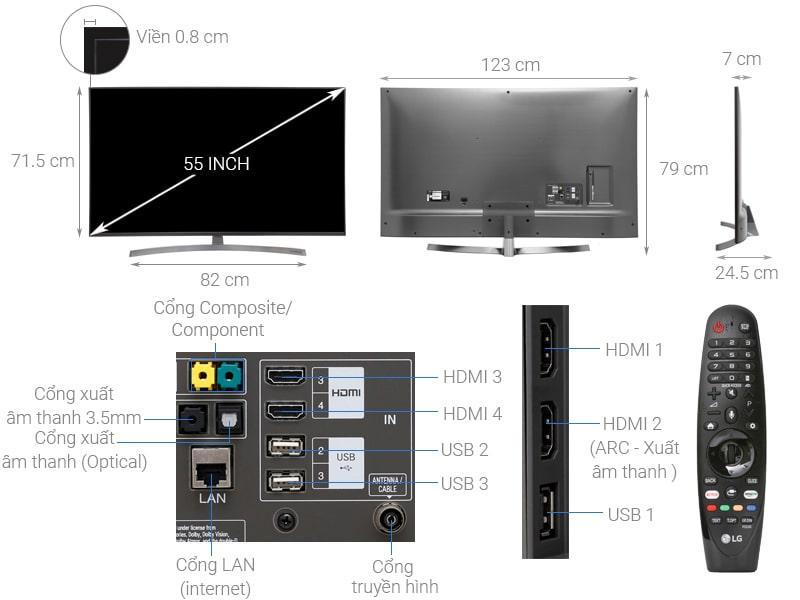 tổng quan về Tivi LG 55SK8000PTA
