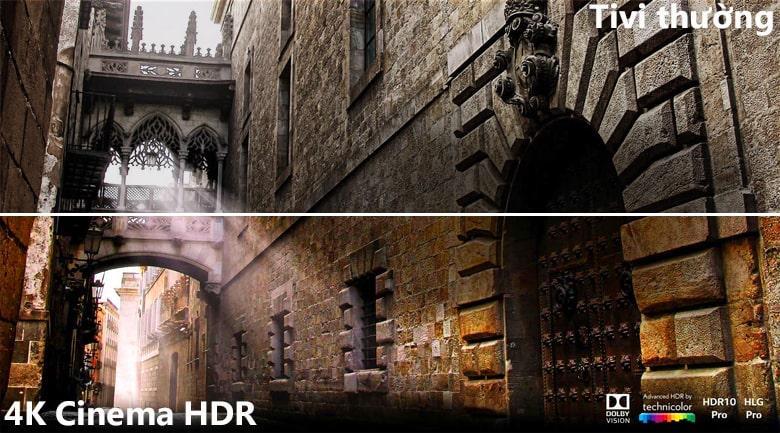 công nghệ 4K Cinema HDR trên Tivi LG 55SK8000PTA