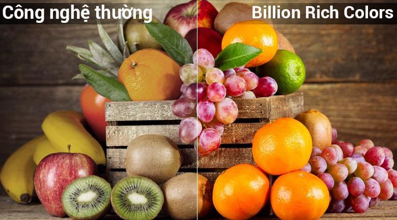 công nghệ Billion Rich Colors cho màu sắc rực rỡ hơn