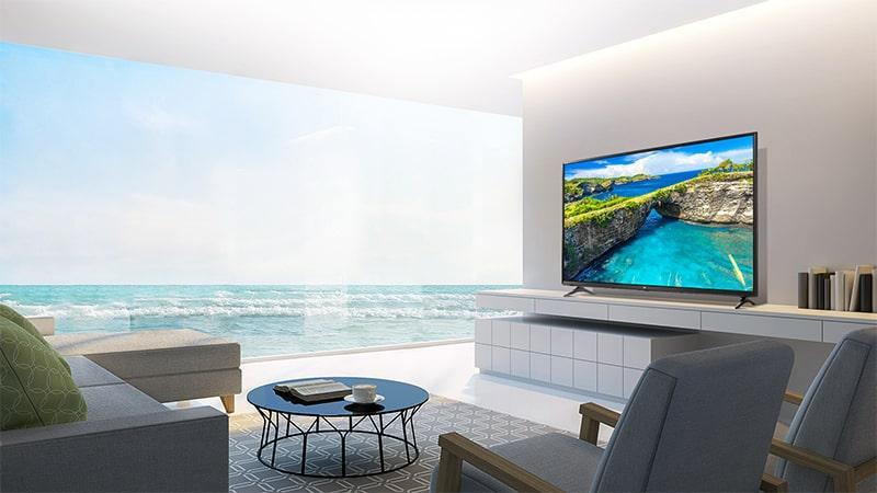 thiết kế của Tivi LG 55UK6100PTA