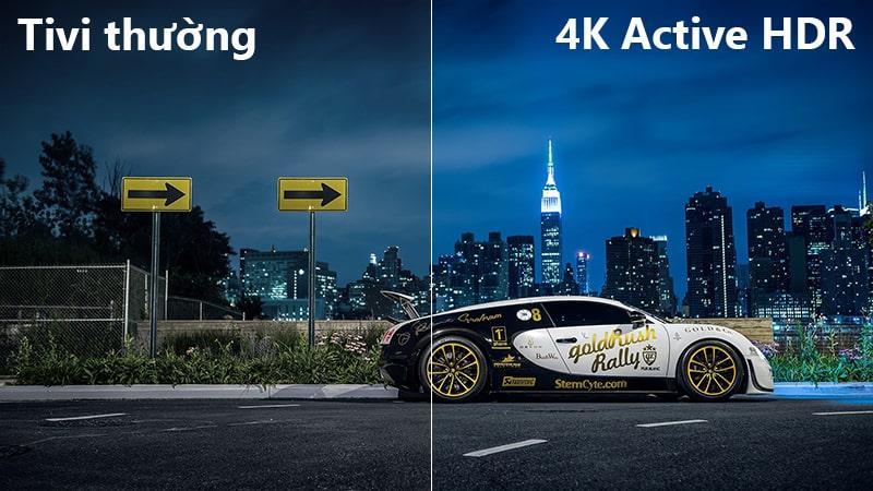 công nghệ 4K Active HDR trên Tivi LG 55UK6100PTA