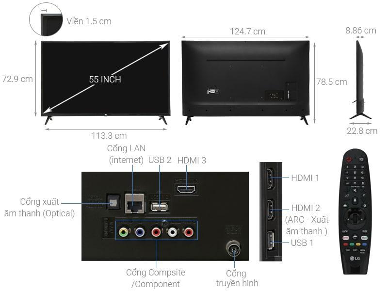 tổng quan về Tivi LG 55UK6320PTE