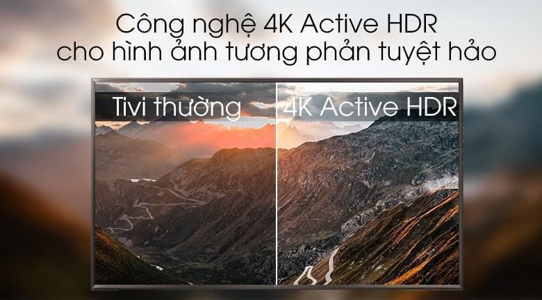 công nghệ 4K Active HDR cho hình ảnh tương phản tuyệt hảo trên Tivi LG 55UK6320PTE
