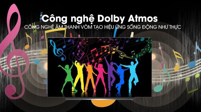 công nghệ âm thanh Dolby Atmos trên Tivi OLED LG 65C9PTA