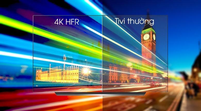 công nghệ 4K HFR trên Tivi OLED LG 65C9PTA