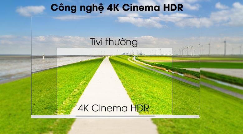 công nghệ 4K Cinema HDR trên Tivi OLED LG 65E9PTA