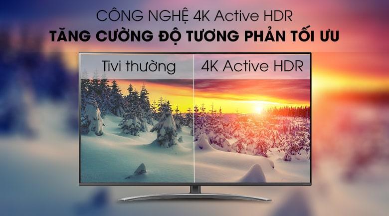 công nghệ 4K Active HDR trên Tivi LG 65SM8100PTA