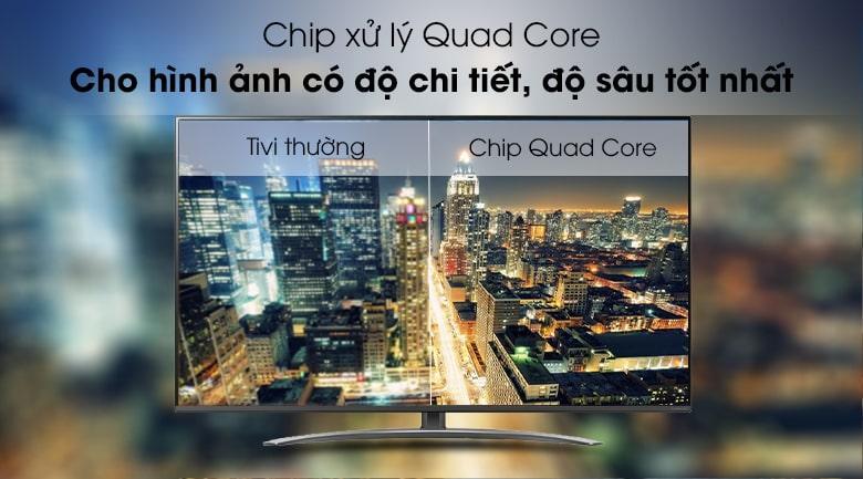 chip xử lý Quad Core trên Tivi LG 65SM8100PTA