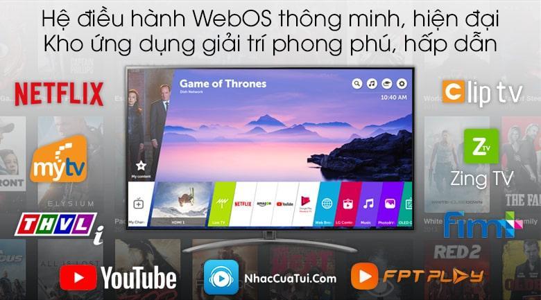 hệ điều hành WebOS dễ sử dụng,kho ứng dụng phong phú