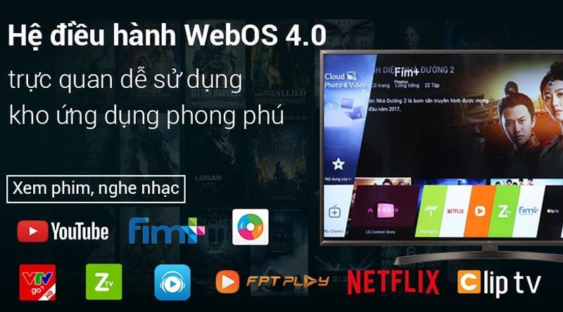 hệ điều hành WebOS 4.0 trên Tivi