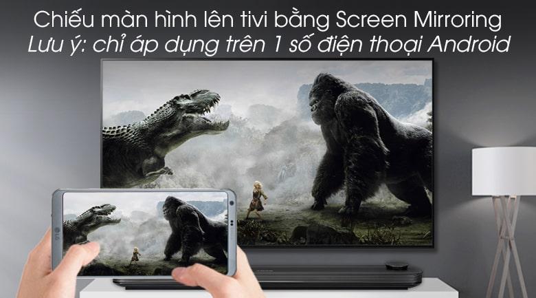 chiếu màn hình điện thoại lên tivi bằng screen mirroring