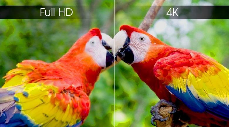 độ phân giải 4K trên Tivi OLED LG 65W9PTA