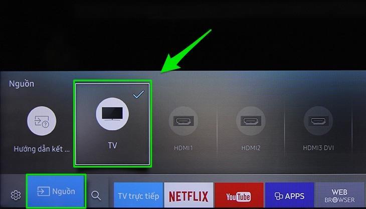 tivi không dò được kênh