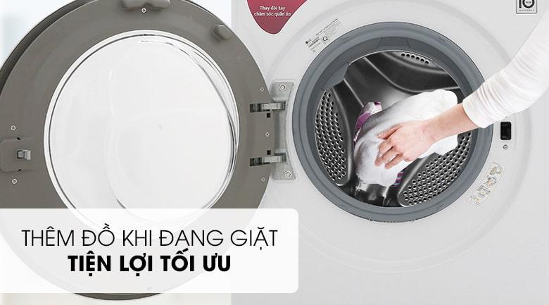 Thêm đồ ngay khi đang giặt