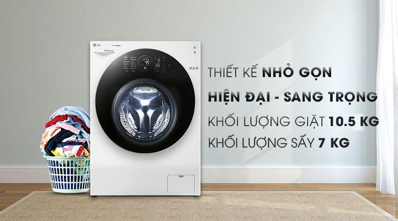 máy giặt sấy LG 10.5kg FG1405H3W1