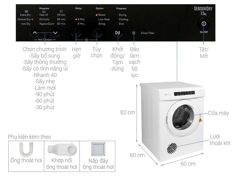 Máy sấy Electrolux 6.5kg EDV6552