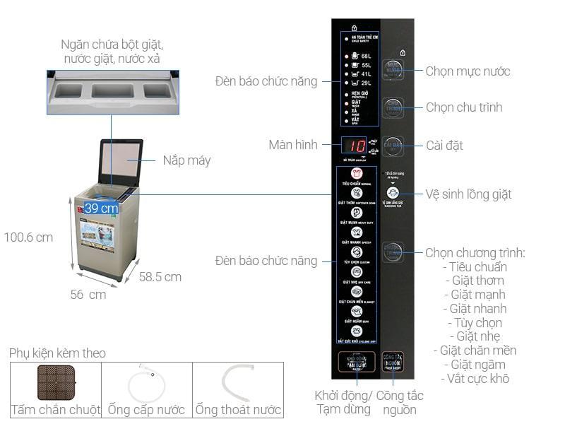 Máy giặt Aqua AQW-U91CT N
