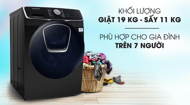 Máy giặt sấy Samsung WD19N8750KV/SV