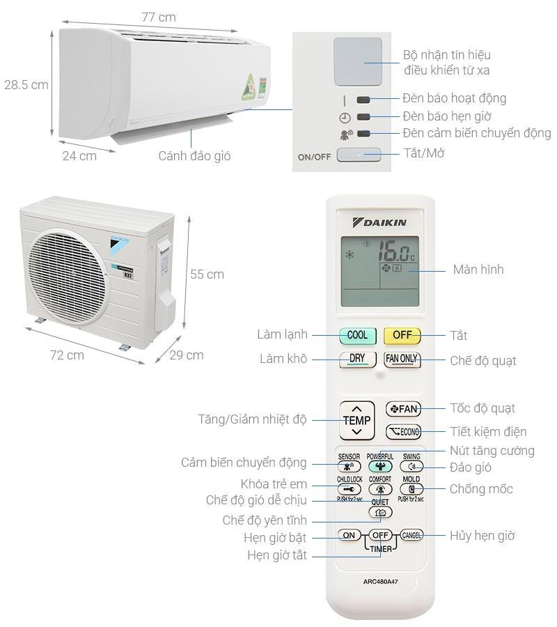 Daikin Inverter 1.0 HP ATKC25UAVMV