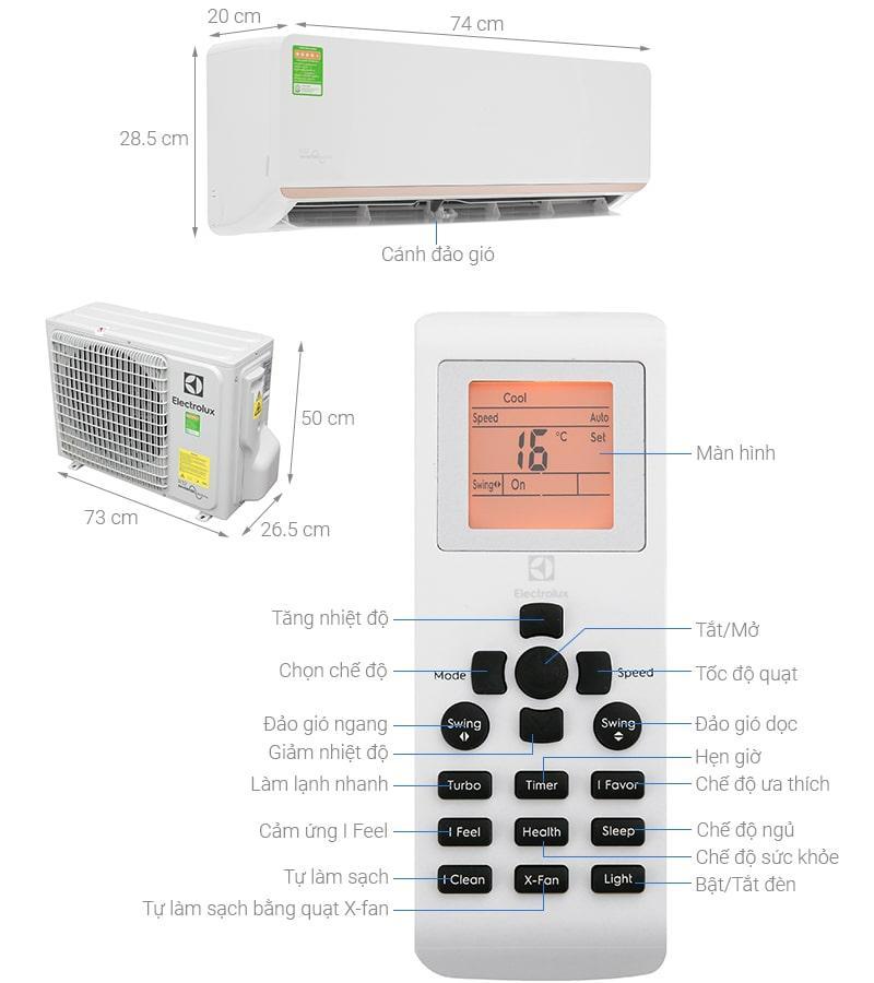 Điều hòa Electrolux Inverter 1 HP ESV09CRR-C2