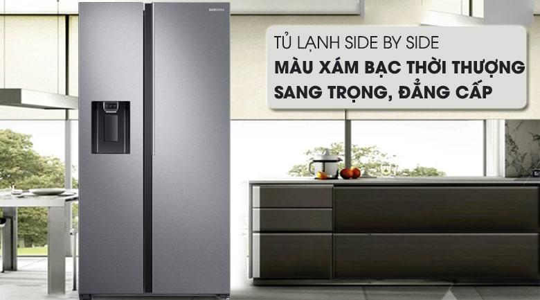 Tủ lạnh Samsung RS64R5101SL/SV màu xám bạc thời trang,sang trọng,đẳng cấp