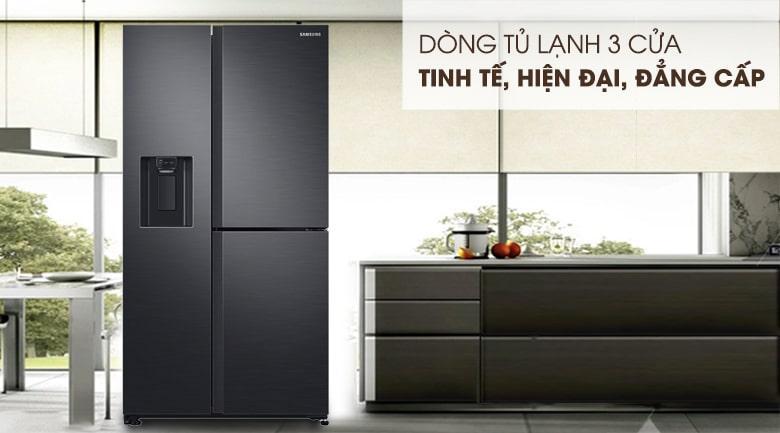 Tủ lạnh Samsung RS65R5691B4/SV thiết kế 3 cửa tinh tế,hiện đại,đẳng cấp
