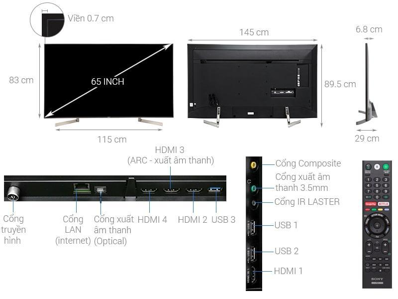 tổng quan về Tivi Sony KD-65X9000F