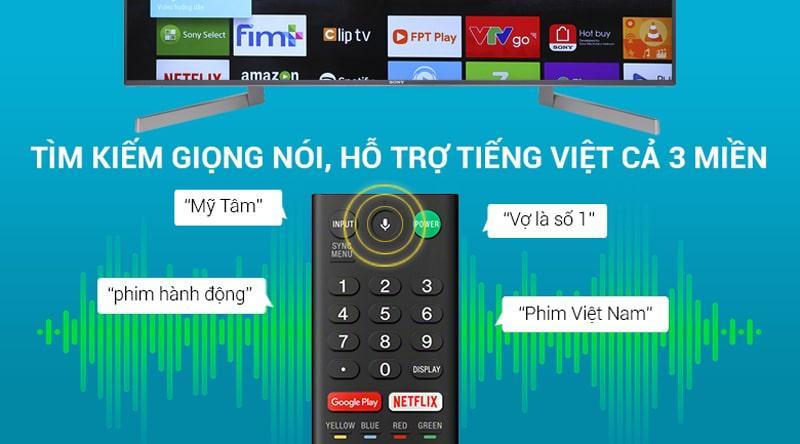 remote thông minh hỗ trợ tìm kiếm bằng giọng nói