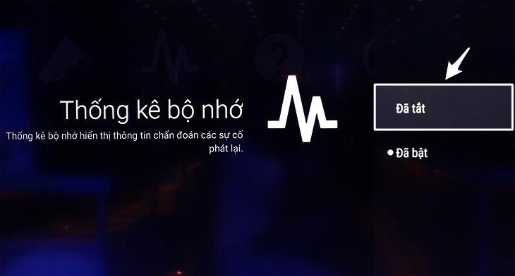 bảng thông tin khi xem youtube trên tivi