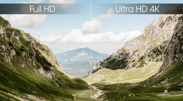 độ phân giải 4K trên Tivi LG 55UM7290PTD