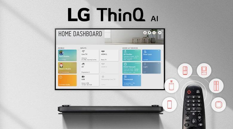 Trí tuệ thông minh LG ThinQ Al tìm kiếm nhanh chóng