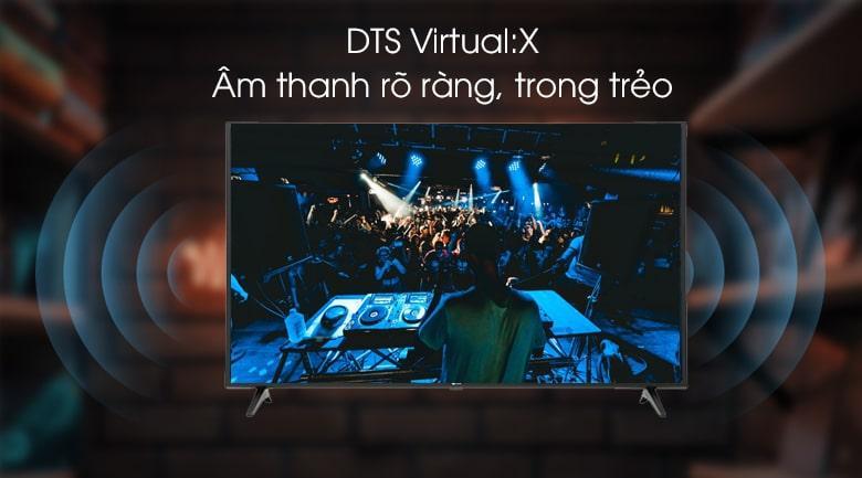 âm thanh trong trẻo rõ ràng bởi công nghệ DTS Virtual :X