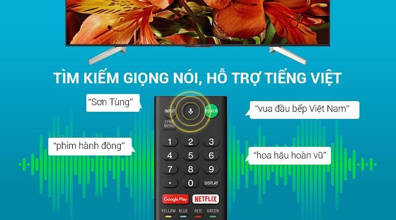 Tivi Sony KD-49X8500G có remote thông minh