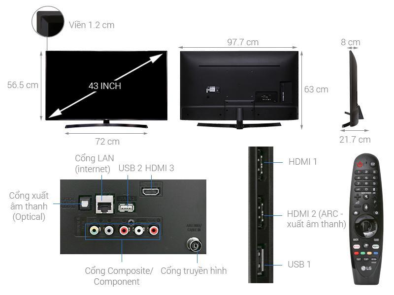 Tivi LG 4K 43 inch 43UK6340PTF
