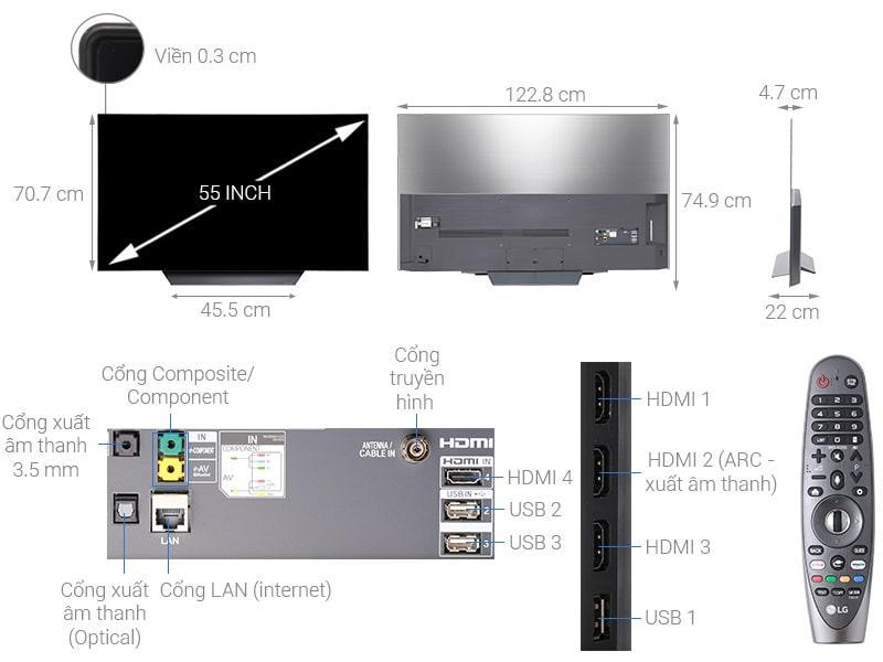 tổng quan Tivi OLED LG 55B8PTA