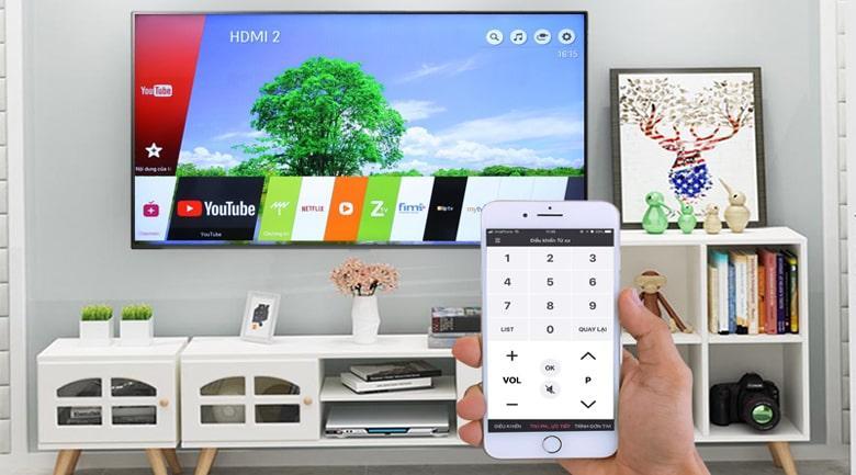 điều khiển tivi bằng điện thoại với ứng dụng LG TV Plus