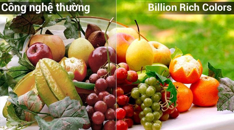 công nghệ màu sắc Billion Rich Colors cho màu sắc rực rỡ hơn