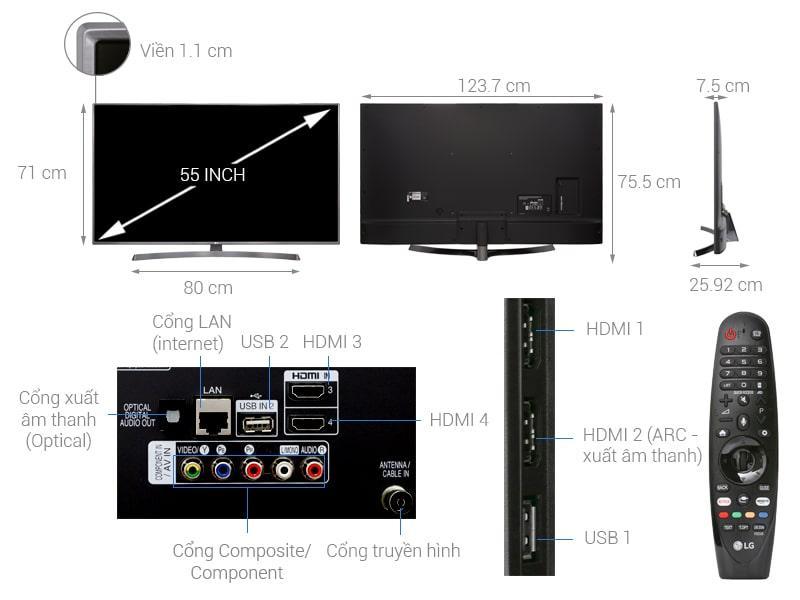 tổng quan về Tivi LG 55UK6540PTD