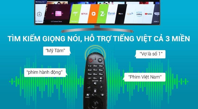 remote thông minh hỗ trợ tìm kiếm bằng tiếng việt