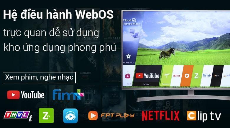 hệ điều hành WebOS trực quan dễ sử dụng với kho ứng dụng phong phú