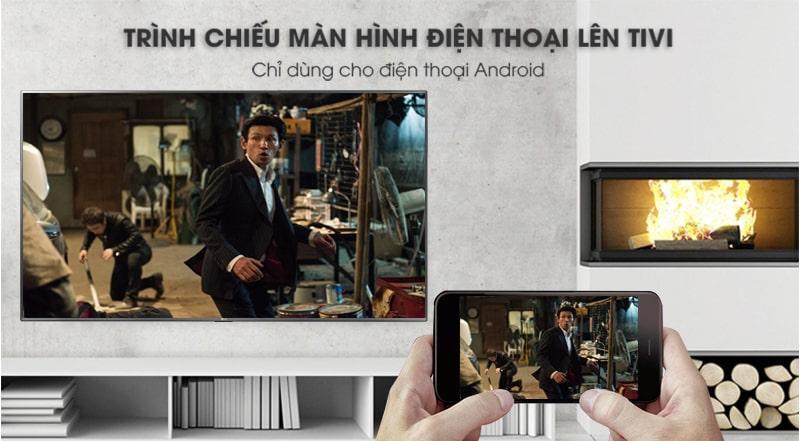 chiều màn hình điện thoại lên tivi qua ứng dụng LG TV Plus